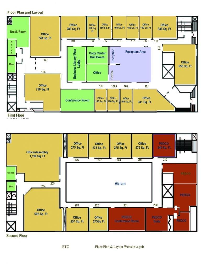 The business technology center pueblo economic for Small business floor plan