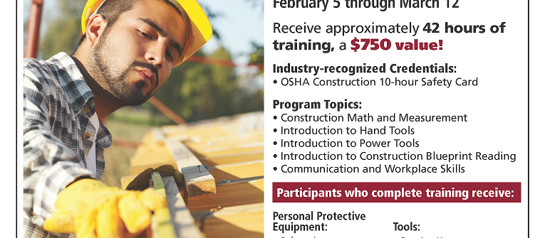 construction training flyer january 2018 pueblo economic